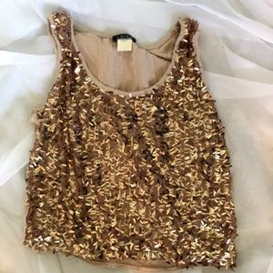 Gold Sparkly Tank